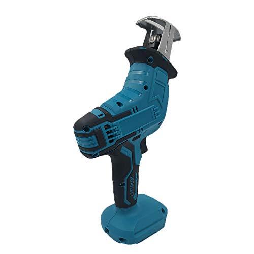 REWD Elektro Kettensäge 18V Holzschneide bewegliche drahtlose Kettensäge Holzschneidemaschine ohne Batterie for Makita Kettensäge ohne Batterie