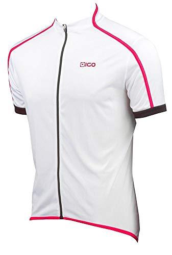 Eigo Classic Maillot à manches courtes homme Blanc/Rouge Taille L