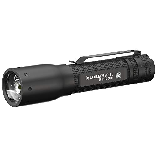 Ledlenser Allround Taschenlampe P3 - Schwarze LED Handlampe mit patentiertem Advanced Focus System - bis zu 6 Stunden Laufzeit - 25 Lumen