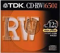 TDK CD-RWデータ用650MB High Speed記録対応 10mm厚ケース入り [CD-RW74HSS]
