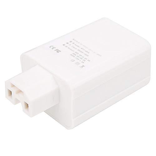 Rehomy Cargador de coche de carga rápida Cargador de vehículo eléctrico USB Cargador eléctrico de alta eficiencia Buena estabilidad (blanco)