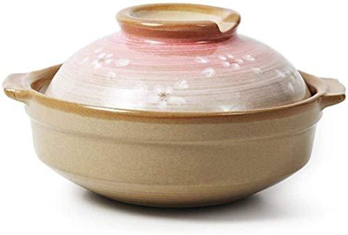 DUDDP Cacerola Stef Pot Terracotta Stew Pot Clay Casserole Pot Casserole Casserole - Actualización Saludable y Duradera Temperatura de Bloqueo de nutrición y Capacidad de Sabor