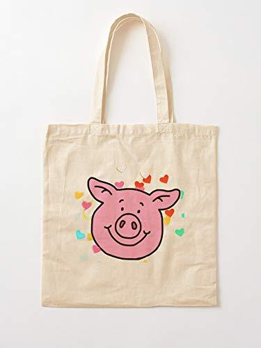 Générique M Pig British and Sweets Percy Candy Marks Spencer S | Sacs d'épicerie de Toile Sacs fourre-Tout avec poignées Sacs à provisions en Coton Durable