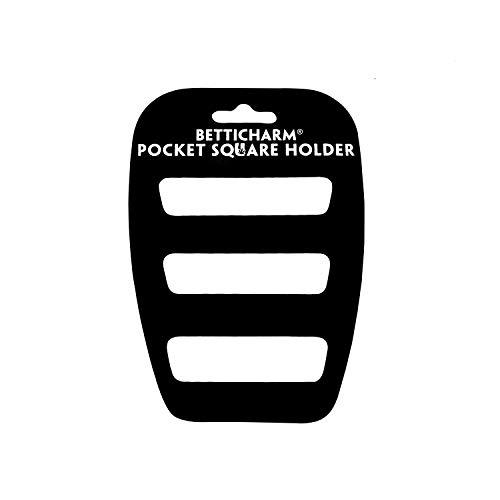 BettiCharm Slim Pocket Square Holders, Men's Suit Handkerchiefs Keeper/Organizer (1 Pack)