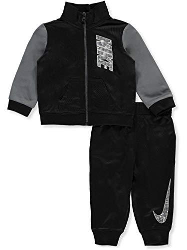 Nike Jungen 4–7 Raglan Zip Track Jacke und Hose Set, Baby - Jungen, schwarz, 12 Monate