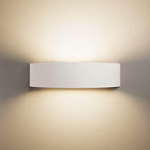 LightHUB oben unten innen Gips Wandleuchte Gipsleuchte modernes E14 wandlampen wandleuchte dekoration (Bereit für LED) weiß für schlafzimmer, küchen, büro, Badezimmer