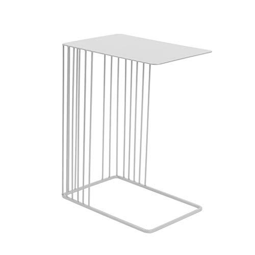 TangMengYun Table basse en fer forgé créatif, table de chevet chambre simple table de chevet canapé (noir, or, blanc) (Color : White)