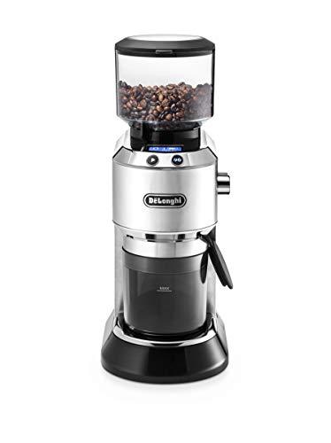 """De\'Longhi Dedica KG 521.M Elektrische Kaffeemühle, 2,1\"""" LCD Display mit Aroma Funktion, Vollmetallgehäuse, edelstahl Kegelmahlwerk, einstellbare Mahlgradeinstellung, silber"""