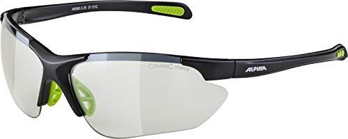 ALPINA Unisex - Erwachsene, JALIX Sportbrille, black matt-green, One size