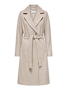 ONLY Damen ONLGINA Wool WRAP Coat CC OTW Wollmantel, Humus, S