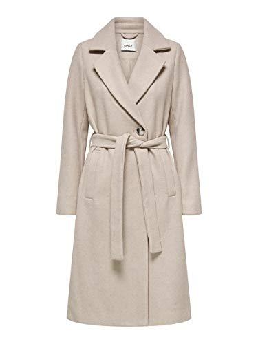 ONLY Damen ONLGINA Wool WRAP Coat CC OTW Wollmantel, Humus, XL