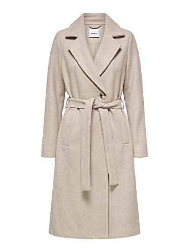 ONLY Damen ONLGINA Wool WRAP Coat CC OTW Wollmantel, Humus, M