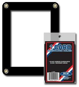BCW Single Card Screwdown Holder - Black Border - Baseball, Football, Basketball, Hockey, Nascar, Sportscards, Gaming & Trading Cards Collecting Supplies