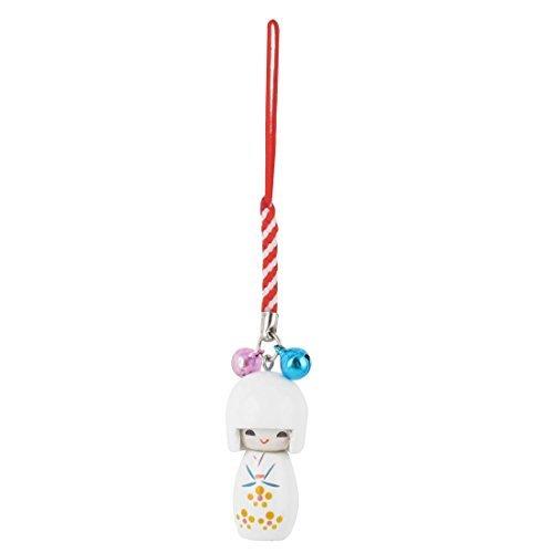 DealMux Japonesa del teléfono Celular de la muñeca de Kokeshi Pendiente del Bolso de Cadena móvil MP3