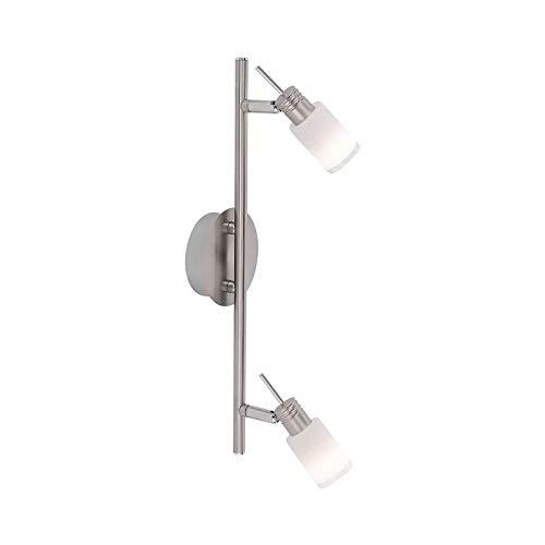 LED plafondspots 2 spots hal plafond lamp woonkamer hallamp (plafondlamp, keukenlamp, 40 cm, 2 x 3 Watt, warm wit)