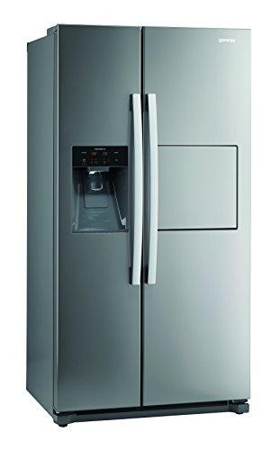 Gorenje NRS 9182 CXB Side by Side / A++ / 177,1 cm Höhe / 329 kWh/Jahr / 353 L Kühlteil / 159 L Gefrierteil / Abtau-Vollautomatik NoFrost / Multi Flow 360 Grad Kühlsystem mit Quick Cooling-Funktion / Inox, Anti-Fingerprint Beschichtung