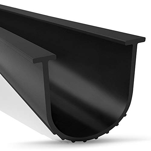Garage Door Seal, WEST BAY T-End 20ft Long Bottom Rubber Weatherproof...