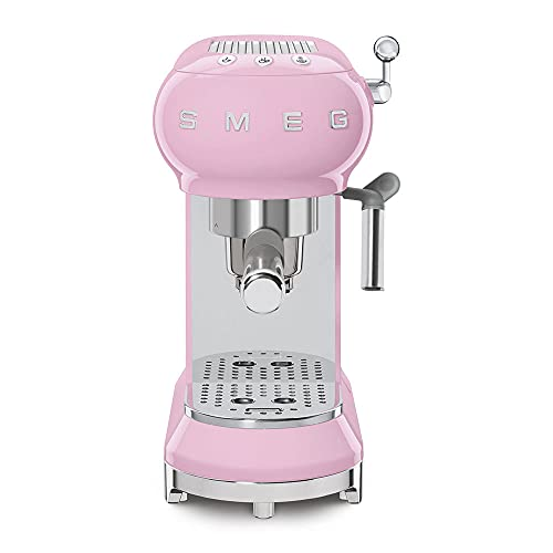 Smeg ECF01RDUS 50s Retro Style Espresso Machine - Pink