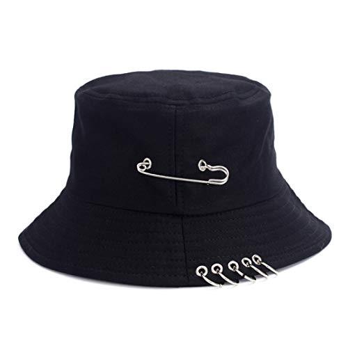 AROVON Sombrero de cubo negro para hombres y mujeres coreana Harajuku Hip Hop Cap moda japonés viaje plegable casual Cap