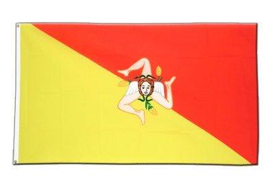 Italien Sizilien Flagge, sizilianische Fahne 90 x 150 cm, MaxFlags®