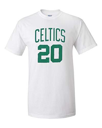 Gordon Hayward Boston Celtics White Name and Number T-Shirt Small