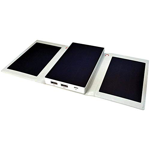 Helios Smart Solpo - Super Fast Solar Charger & Power Bank (White) (Renewed)