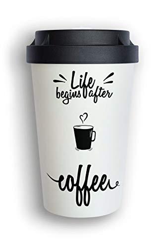 heybico Coffee to go Becher aus Pflanzen hergestellt im Schwarzwald | umweltfreundlich & klimaschonend (After Coffee)