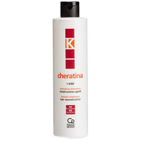 K-Cheratina - Shampoo Ricostruzione - Trattamento Professionale con Cheratina per Ristrutturazione Capelli Danneggiati - Prepara la Cute e Ripara Danni - 250 ml