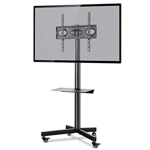 RFIVER Soporte TV con Ruedas para TV de 26 a 55 Pulgadas Soporte Movil de Suelo para Television hasta 40 kg MAX VESA 400x400mm