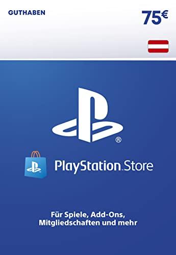 PSN Guthaben-Aufstockung   75 EUR   österreichisches Konto   PS5/PS4 Download Code