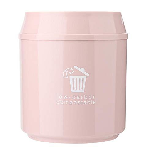 Omabeta Bote de Basura Escritorio Mini Bote de Basura Hogar Baño Dormitorio Dormitorio(Pink)