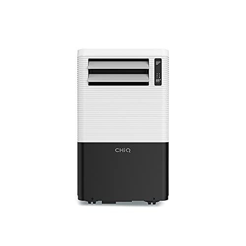 CHiQ 3in1 Mobiles Klimagerät 1280 Watt Klimagerät mit Abluftschlauch und Fenster-Abdicht-Kit | Mobile Klimageräte für Büro, Wohnung, Schlafzimmer (70x44x33cm) [12000Btu/3.35KW]