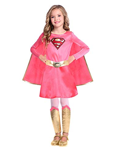amscan 9906737 Supergirl Warner Bros - Disfraz infantil (edad de 10 a 12 años)