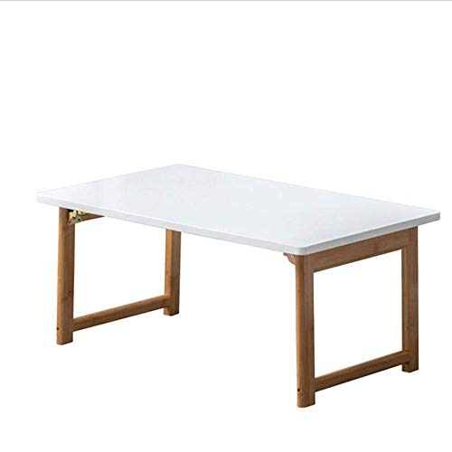 Axdwfd Notebook Workstation Table pliante en bambou de haute qualité Table d'étude moderne Lazy Table (blanc)