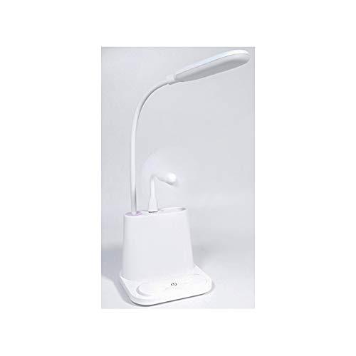 TTAototech - Lámpara de escritorio con luz LED recargable por USB, ajustable, para niños, lectura, estudio, noche, dormitorio, sala de estar,
