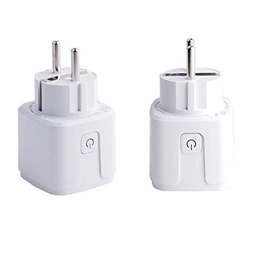 Stemedu Zigbee Smart Plug compatible con Philips Hue (Hub Required) Amazon Alexa SmartThings Hub Google Assistant Tuya SmartLife eWeLink Voice Pairing Zigbee 3.0