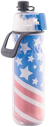 O2COOL Classic Insulated Elite Botella de agua, Mist 'N Sip, 20 oz, Patriotic (HMLDP07PA4)