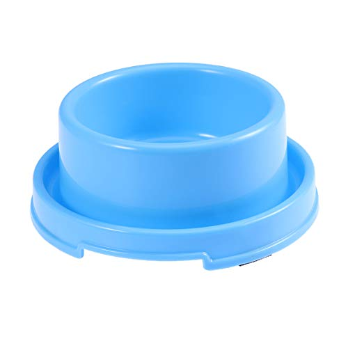 Pop Etpop Circle Pet Food Bowl Anti Ant Dog Feeding Bowl for Puppies and Cats (Blue)