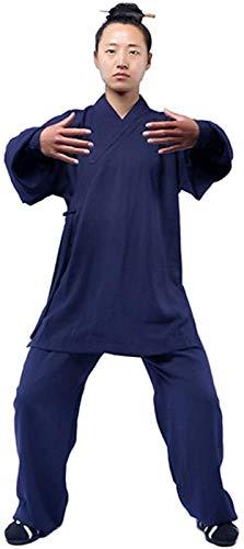 Tai Chi Uniforme Hombre, Ropa De Uniforme De Tai Chi Hombres - Qi Gong Artes Marciales Wing Chun Shaolin Kung Fu Training Dao Ropa Taoísta,BlueB-2XL
