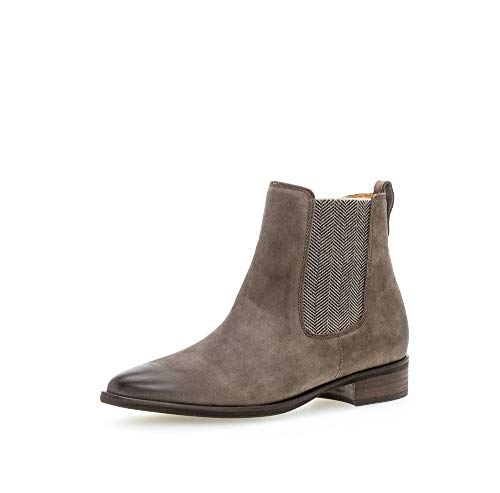 Gabor Damen Stiefeletten, Frauen Chelsea Boots,Chelsea Boots, Stiefel halbstiefel Bootie Schlupfstiefel flach,Wallaby,38 EU / 5 UK