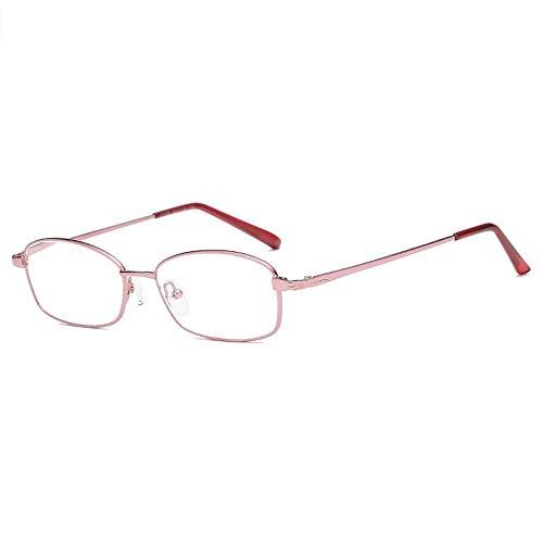 Leesbril Leesbril Natuurlijke HD dames leesbril Frame Leesbrillen (Color : Red, Size : +100)