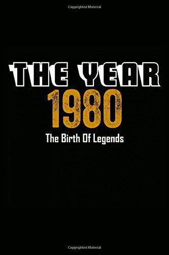 The Year 1980 The Birth Of Legends: Notebook notizbuch a5 kariert,geburtstag Geschenk idee Für Frauen Männer Geboren 1980, Journal skizzenbuch tagebuch a5 110 Pages, 40 geburtstag geschenk