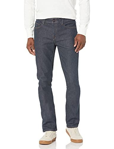 Volcom Men's Vorta Slim Fit Stretch Denim Jean, Grey Indigo Rinse, 36Wx30L