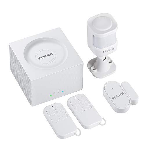 FUERS G95 GSM/WIFI Alarma Casa por CALL/SMS/APP(TUYA) con Sensor Puerta/Detector Anti-mascota, Compatible con Alexa/Google Home Control de Voz Kit Alarma Hogar Inalámbrico para Autocaravana/Garage