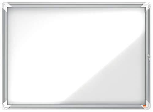 Nobo Bacheca Magnetica per Esterno con Serratura, 8 x A4, Gamma Premium Plus, Bianco, 1902579