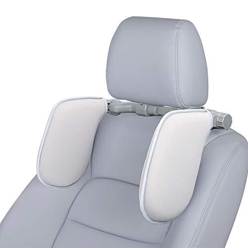 Spurtar Almohada de Cuello del Coche, Reposacabezas - Auto Cojín Cuello Almohada Reposacabezas Plegable para Dormir en el Automóvil para Adultos y niños (Gris)