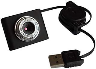 Mini cámara Web HD de 8 Millones de píxeles Cámara Web con micrófono para computadora portátil de Escritorio USB Plug and Play para videollamadas - Negro