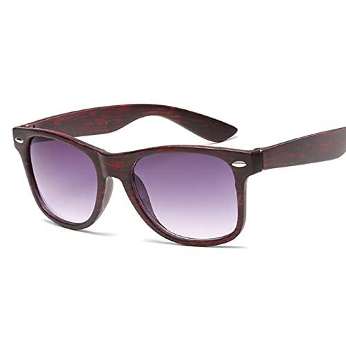 NJJX Gafas De Sol De Bambú Retro Para Hombre, Gafas De Bambú De Madera, Gafas De SolCuadradas De Moda Para Hombre, Gafas De Madera De Imitación Para Hombre, Marrón