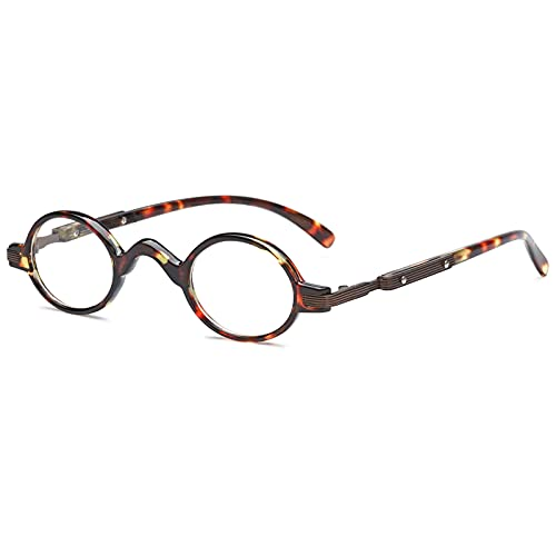 VEVESMUNDO Lesebrillen Herren Damen Retro Runde Klassische Vollrandbrille Arbeitsplatzbrille Vintage Klar Lesehilfe Sehhilfe Brillen mit Sehstärke (1 Stück Schildpatt Lesebrille, 1.5)