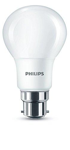 Philips Ampoule LED B22, 8W Équivalent 60W, Blanc Chaud